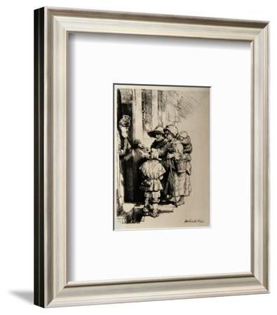 Mendients a la Porte d'Une Maison (B176)-Amand Durand-Framed Collectable Print
