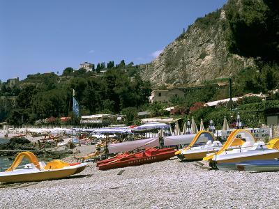 Mendolia Beach, Taormina, Sicily, Italy-Peter Thompson-Photographic Print