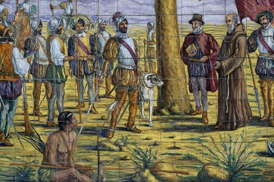 Mendoza Foundation, Polychrome Ceramic, Monument to Brotherhood Between Spain and Argentina--Giclee Print