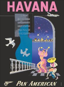 Havana, Cuba - Pan American World Airways by Mendoza
