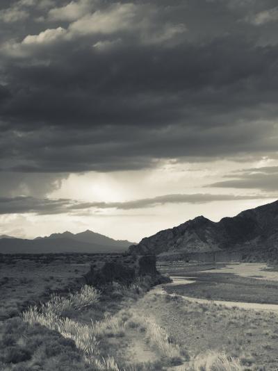 Mendoza Province, Uspallata, Mountain Light in Rio Mendoza River Valley, Argentina-Walter Bibikow-Photographic Print