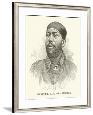 Menelek, King of Abyssinia--Framed Giclee Print