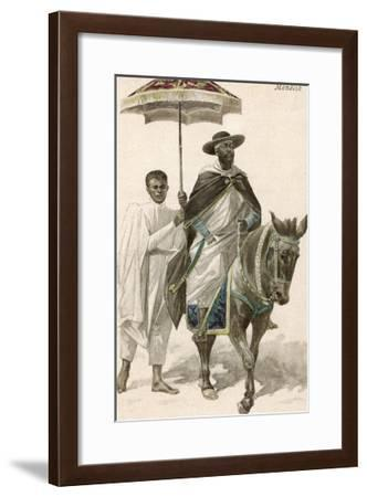 Menelik II Emperor of Ethiopia--Framed Giclee Print