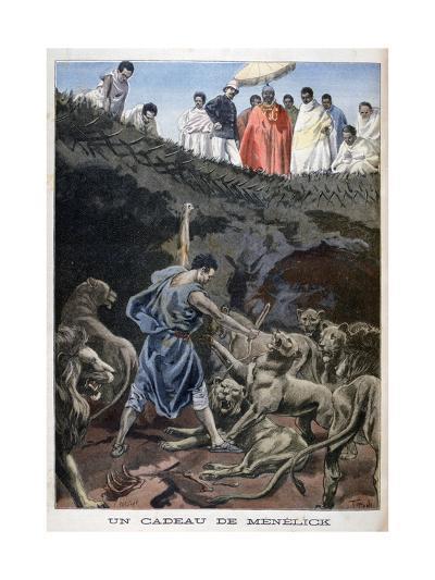Menelik II of Ethiopia, 1898-F Meaulle-Giclee Print