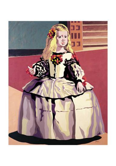Menina-Porcel-Art Print