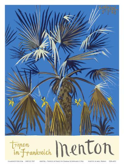 Menton - Tropen in Frankreich (Tropics in France) - Palm Tree-Graham Sutherland-Art Print
