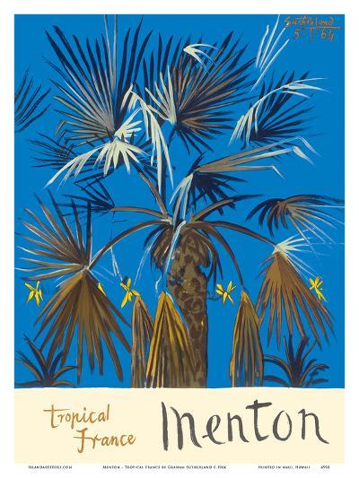Menton - Tropical France - Palm Tree-Graham Sutherland-Art Print