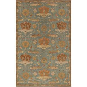 Mentone Area Rug - Forest/Rust 5' x 8'
