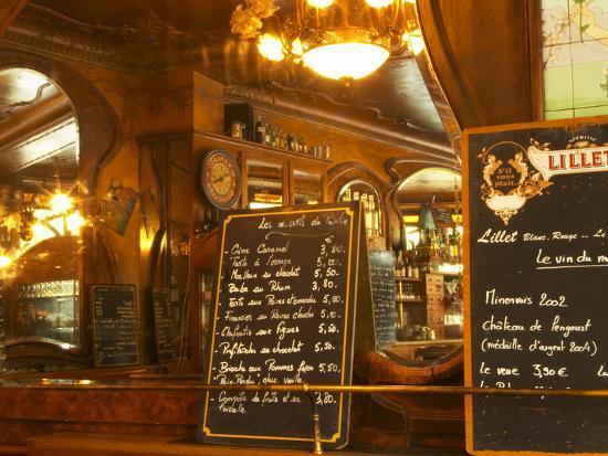 menu for bistrot du peintre art nouveau design paris france