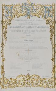 Menu offert à Napoléon III et l'Impératrice Eugénie