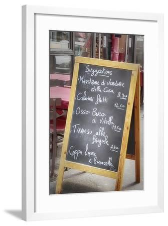 Menu On Paris Street-Cora Niele-Framed Giclee Print