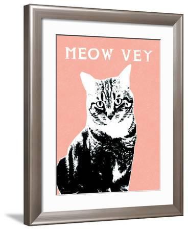 Meow Vey-Linda Woods-Framed Art Print