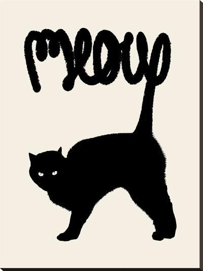 Meow-Florent Bodart-Stretched Canvas Print