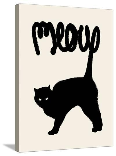 Meow-Florent Bodart-Stretched Canvas Print