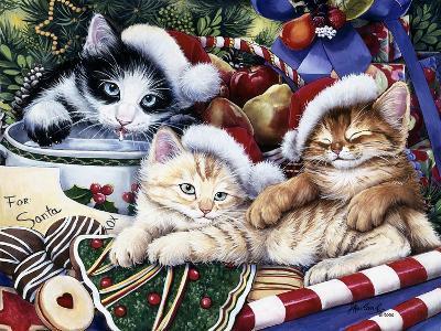 Meowy Christmas 2-Jenny Newland-Giclee Print