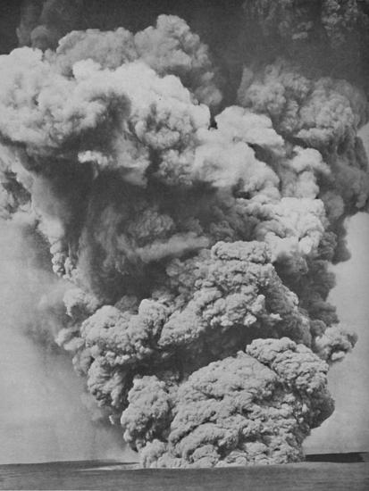 'Mephitic Cloud Belched Forth from the Mouth of Kilauea', c1935-Unknown-Photographic Print