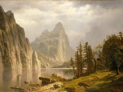 Oil painting The Merced River in Yosemite Albert Bierstadt nice landscape 36/""