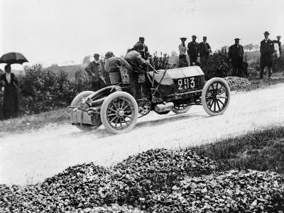Mercedes 60 Hp Climbing a Hill on the Paris-Madrid Race, 1903--Photographic Print