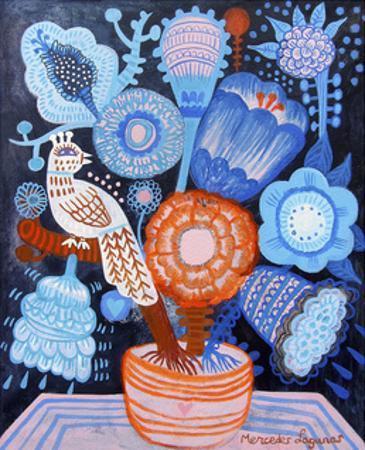 Blue Flowers by Mercedes Lagunas