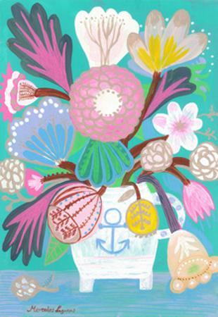 Flowers in a Sailor Jar by Mercedes Lagunas