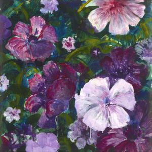 Purple Blooms by Mercedes Marin