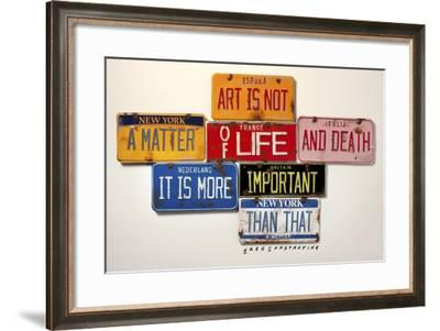 Mercer Art Not Life & Death-Gregory Constantine-Framed Giclee Print