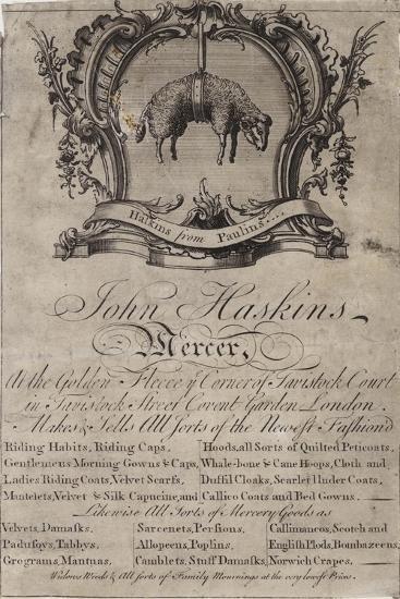 Mercer, John Haskins, Trade Card--Giclee Print