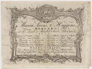 Mercer, Mason Lucas and Higgons, Trade Card