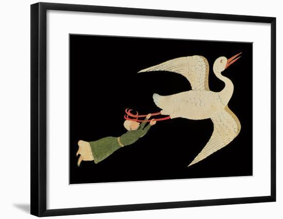 """Merchant from Isfahan Flying, from """"The Wonders of the Creation and the Curiosities of Existence""""--Framed Giclee Print"""
