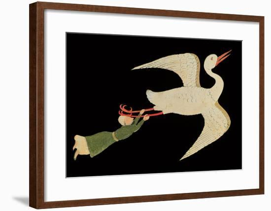 "Merchant from Isfahan Flying, from ""The Wonders of the Creation and the Curiosities of Existence""--Framed Giclee Print"
