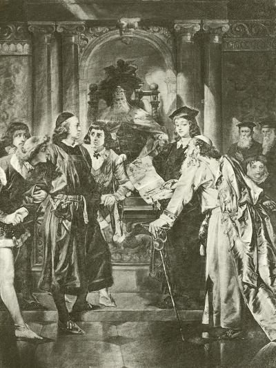 Merchant of Venice. Act Iv-Scene I-Felix Octavius Carr Darley-Giclee Print
