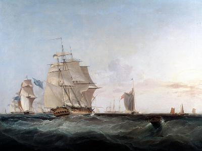 Merchantmen and Other Shipping in the English Channel, 19th Century-George Chambers-Giclee Print