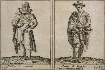 Merchants and Craftmens' Clothing, Taken from Outfits of Venicen Men and Women-Giacomo Franco-Giclee Print