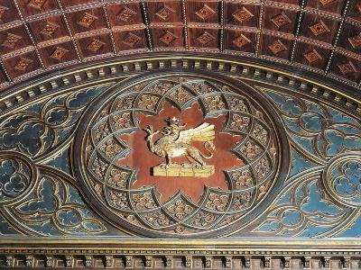 Merchants Coat of Arms, Inlaid Wood, College of Merchandise, Priors' Palace, Perugia, Umbria--Giclee Print