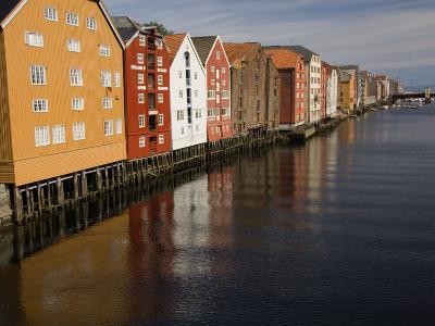 Merchants Premises Along the Nidelva, Trondheim, Norway, Scandinavia, Europe-James Emmerson-Photographic Print