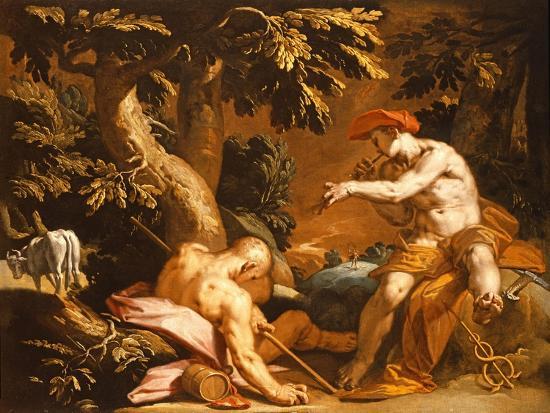 Mercury and Argus-Abraham Bloemaert-Giclee Print
