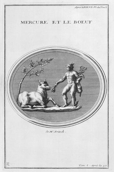 Mercury and the Ox, 1757-Bernard De Montfaucon-Giclee Print
