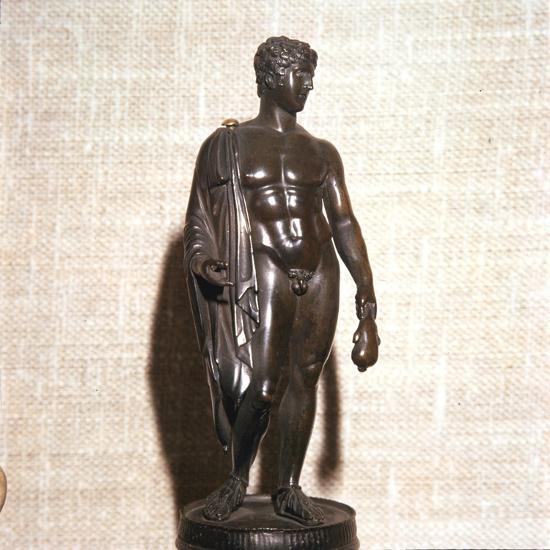 Mercury holding a purse, carrying a traveller's cloak. Roman brronze, 1st century-Unknown-Giclee Print