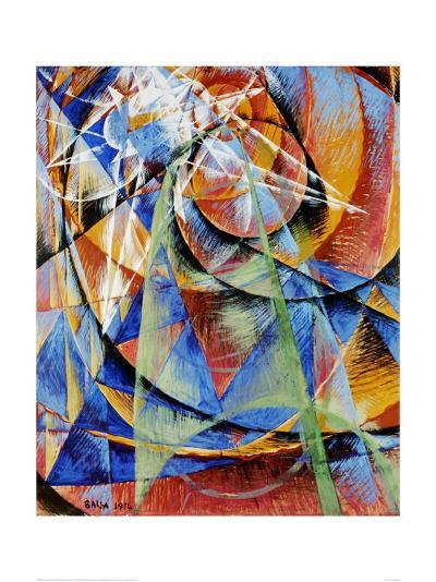 Mercury Passing Before the Sun-Giacomo Balla-Art Print
