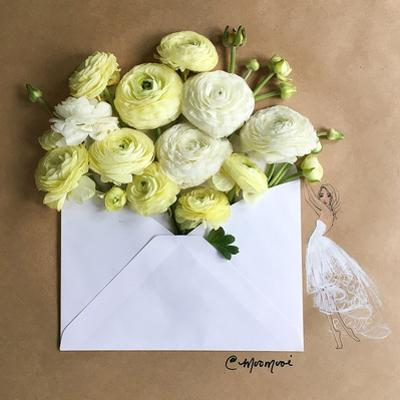 Envelope Bouquet by Meredith Wing