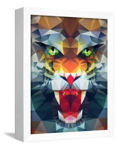 Abstract Polygonal Tiger. Geometric Hipster Illustration. Polygonal Poster by Merfin