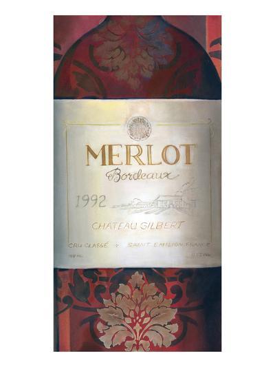 Merlot Red Wine-Louise Montillio-Art Print
