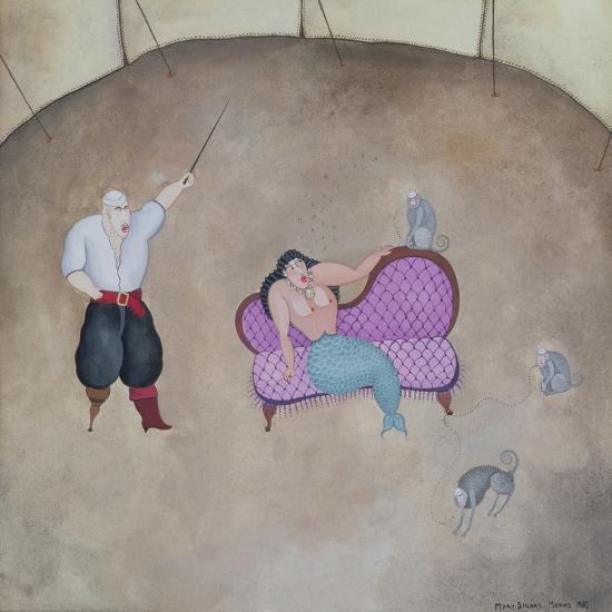 Mermaid and Pirate, 1980-Mary Stuart-Giclee Print