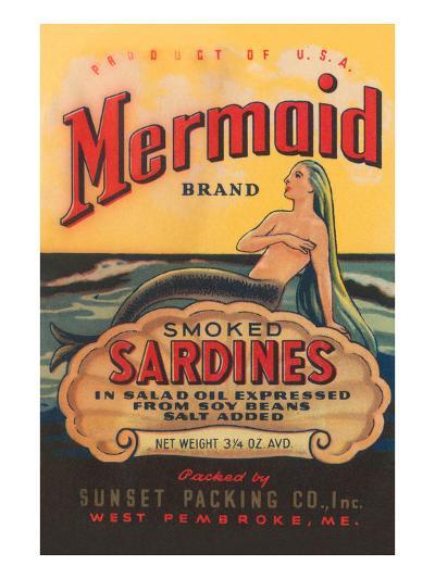 Mermaid Brand Smoked Sardines--Art Print
