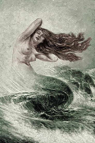 Mermaid from the Seas-Sinding Otto-Giclee Print