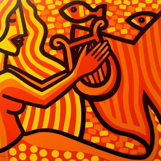 Mermaid Music-John Nolan-Giclee Print