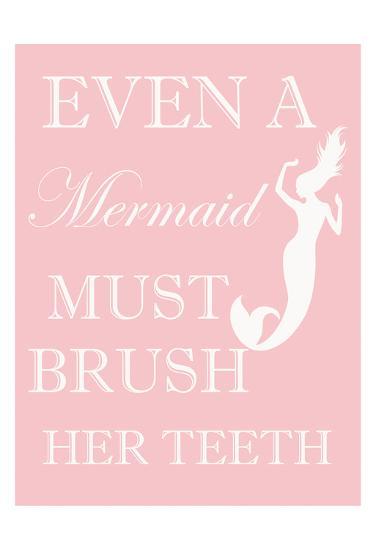 Mermaid Must Brush-Taylor Greene-Art Print
