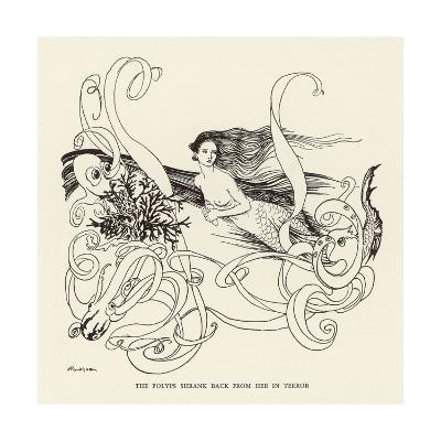 Mermaid, Octopus Rackham-Arthur Rackham-Giclee Print