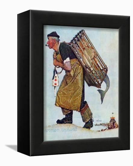 """Mermaid"" or ""Lobsterman"", August 20,1955-Norman Rockwell-Framed Premier Image Canvas"