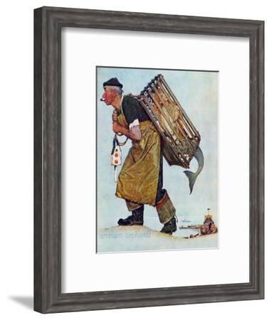 """Mermaid"" or ""Lobsterman"", August 20,1955-Norman Rockwell-Framed Giclee Print"